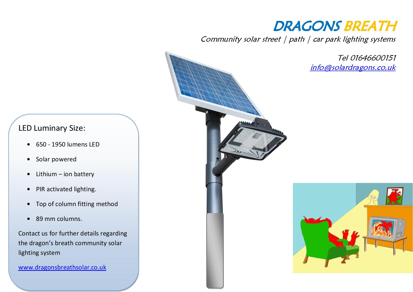 Communal solar street light