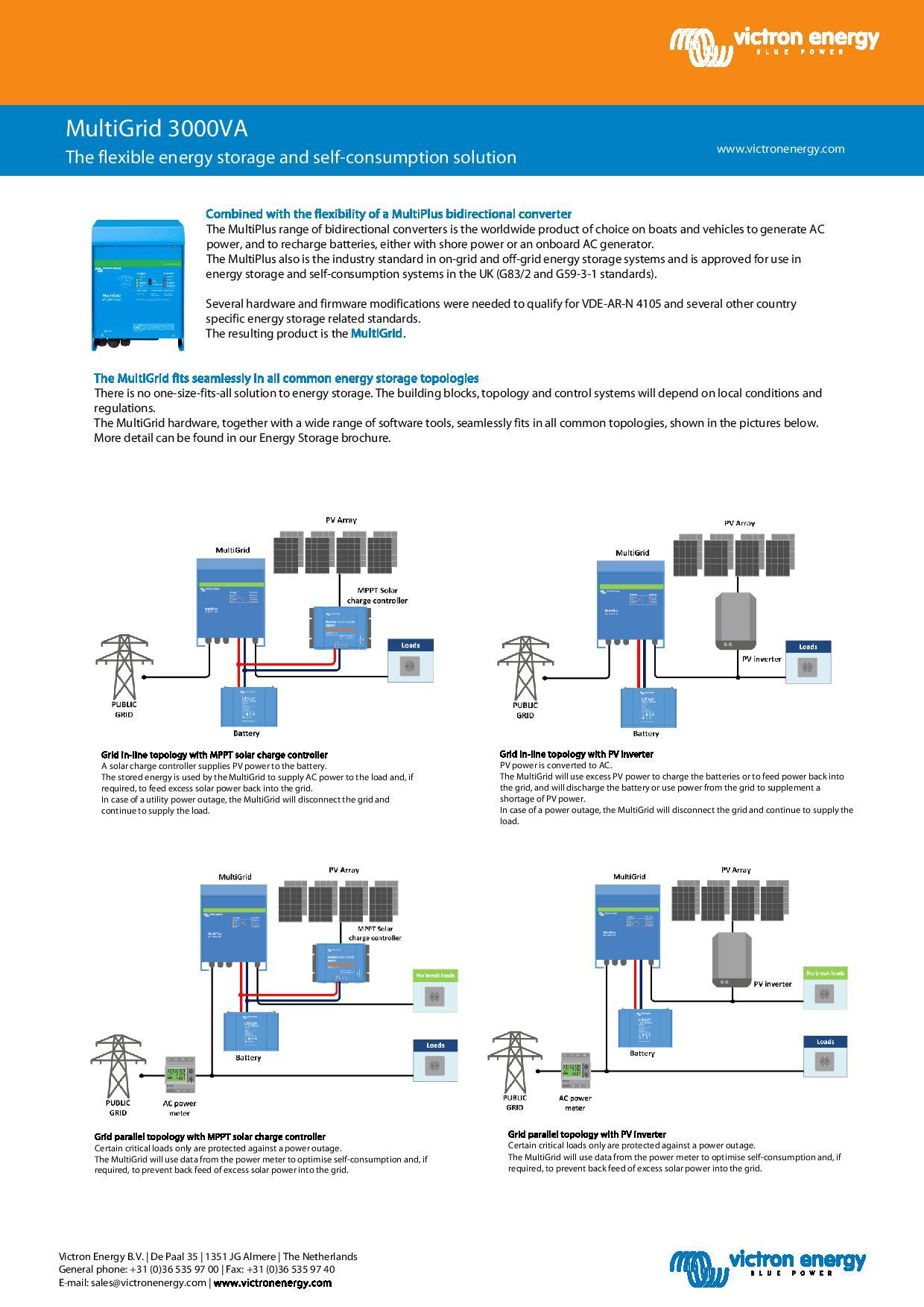 Multi-gGrid storage solar battery storage